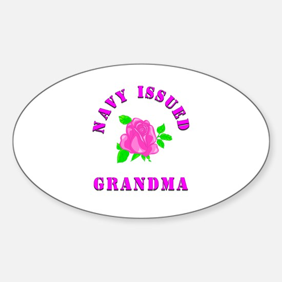 navy issued grandma Oval Decal