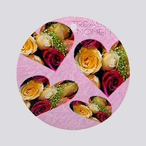 roses Note Card Round Ornament