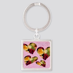 roses Note Card Square Keychain