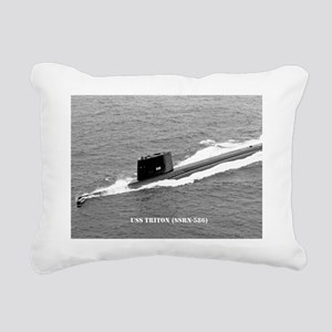 triton ssrn framed panel Rectangular Canvas Pillow