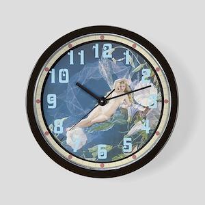 Morning Glory Fairy Wall Clock