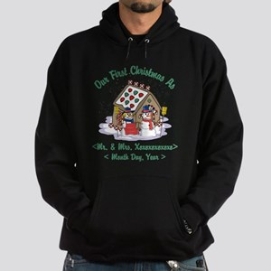 Personalized First Christmas As Mr & Mrs Hoodie (d