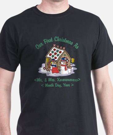 Personalized First Christmas As Mr & Mrs T-Shirt