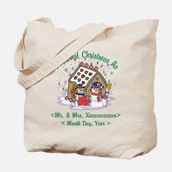 Personalized First Christmas As Mr & Mrs Tote Bag