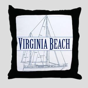 Virginia Beach - Throw Pillow