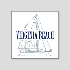 Virginia Beach Square Sticker 3