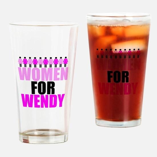 Women for Wendy Davis Drinking Glass