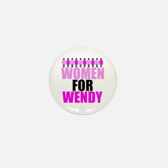 Women for Wendy Davis Mini Button