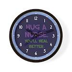 Hug A Nurse Wall Clock
