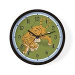 Asian Tiger Wall Clock