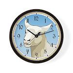 White Ewe Wall Clock