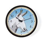 White Mule Wall Clock
