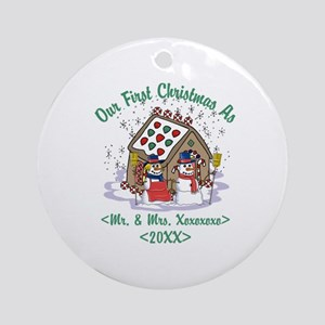 Personalized First Christmas As Mr & Mrs Ornament