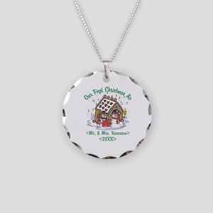 Personalized First Christmas As Mr & Mrs Necklace