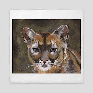 Mountain Cat Queen Duvet