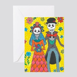 Day of the dead greeting cards cafepress day of the dead wedding couple greeting cards m4hsunfo
