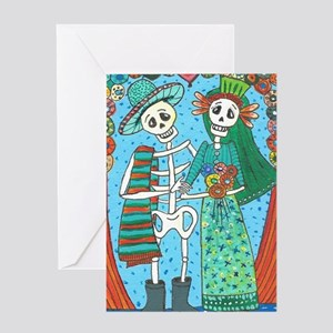 Day of the Dead Wedding Couple Greeting Card