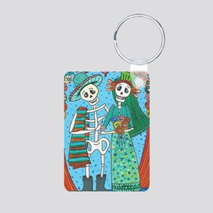 Day of the Dead Wedding Co Aluminum Photo Keychain