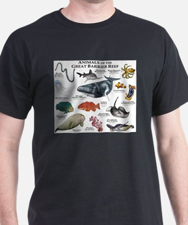 Animals of the Great Barrier Reef T-Shirt