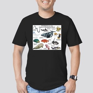 Animals of the Great Barrier Reef Men's Fitted T-S