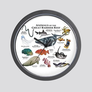 Animals of the Great Barrier Reef Wall Clock