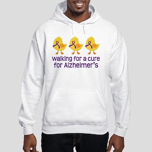 Alzheimers Walk For A Cure Hooded Sweatshirt