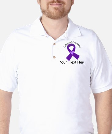 Personalized Alzheimers Ribbon Golf Shirt