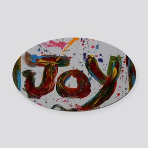 joy Oval Car Magnet