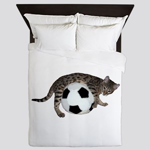Cat Soccer - Queen Duvet
