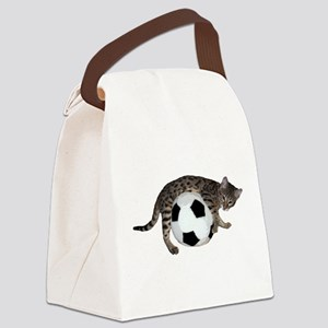 Cat Soccer - Canvas Lunch Bag