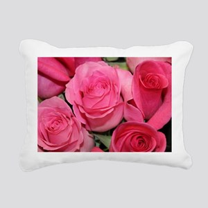Catherine's pink roses Rectangular Canvas Pillow