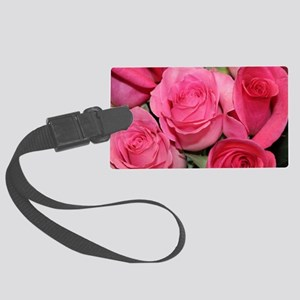 Catherine's pink roses Large Luggage Tag