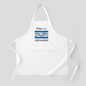 Pray Shalom of Jerusalem BBQ Apron