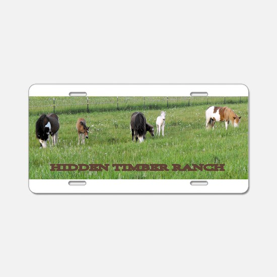HTR Mares and Foals Aluminum License Plate