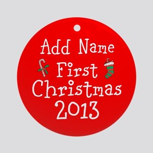 Baby's 1st Christmas 2014 Ornament (Round)