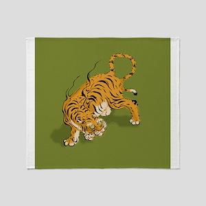 Asian Tiger Throw Blanket