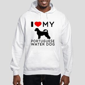 I Love My Dog Portuguese Water Dog Hooded Sweatshi