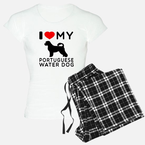 I Love My Dog Portuguese Water Dog Pajamas