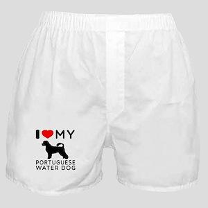 I Love My Dog Portuguese Water Dog Boxer Shorts