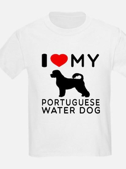 I Love My Dog Portuguese Water Dog T-Shirt