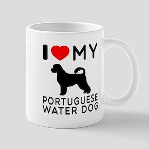 I Love My Dog Portuguese Water Dog Mug
