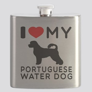 I Love My Dog Portuguese Water Dog Flask