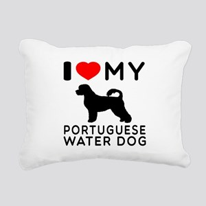 I Love My Dog Portuguese Water Dog Rectangular Can