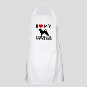 I Love My Dog Portuguese Water Dog Apron