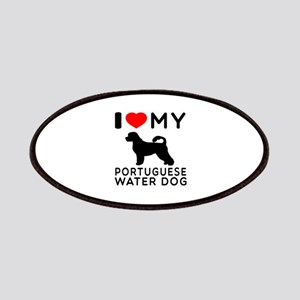 I Love My Dog Portuguese Water Dog Patches