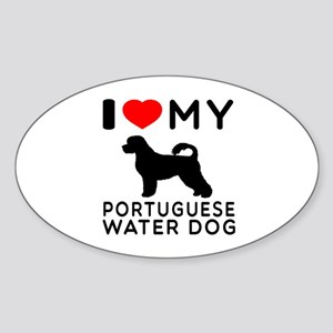 I Love My Dog Portuguese Water Dog Sticker (Oval)