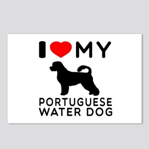 I Love My Dog Portuguese Water Dog Postcards (Pack