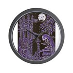 Reaper in the Graveyard Wall Clock