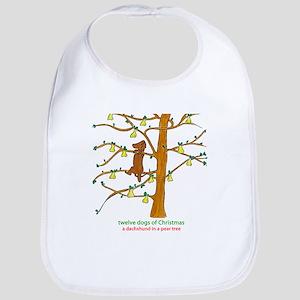 A Dachshund in a Pear Tree Bib