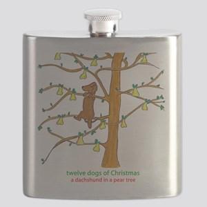 A Dachshund in a Pear Tree Flask